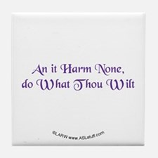 Wiccan Rede Tile Coaster