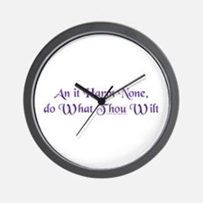 Wiccan Rede Wall Clock
