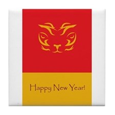 Year of theTiger Gifts and St Tile Coaster