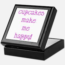 Cupcakes Make Me Happy Keepsake Box