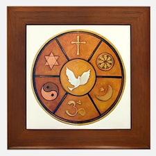 Interfaith Symbol - Framed Tile
