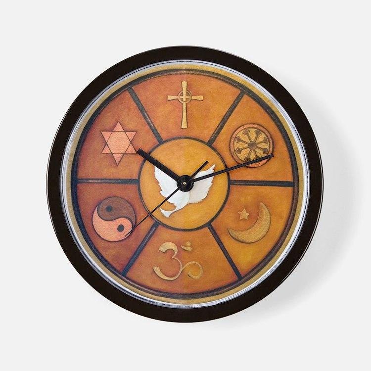 Interfaith Symbol - Wall Clock