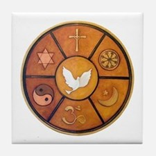 Interfaith Symbol - Tile Coaster