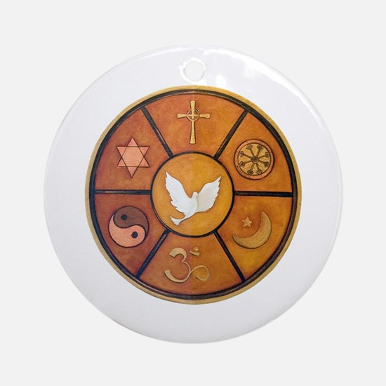 Interfaith Symbol - Ornament (Round)