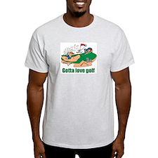 Gotta Love Golfing Ash Grey T-Shirt