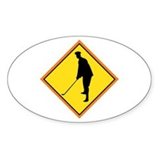 Golf Sign Oval Decal
