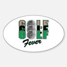Golf Fever Oval Decal