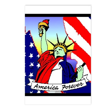 America Forever Statue Of Liberty Postcards (Packa