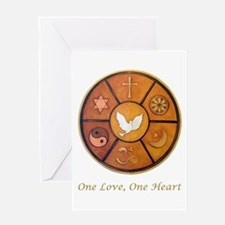 Interfaith One Love, One Heart - Greeting Card
