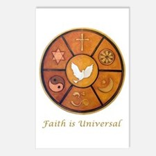 Faith is Universal - Postcards (Package of 8)