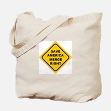 Save America Merge Right Tote Bag