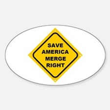 Save America Merge Right Oval Decal