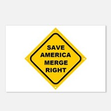 Save America Merge Right Postcards (Package of 8)
