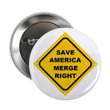 """Save America Merge Right 2.25"""" Button"""