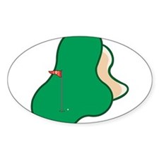Putting Green Oval Decal