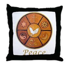 "Interfaith ""Peace"" - Throw Pillow"