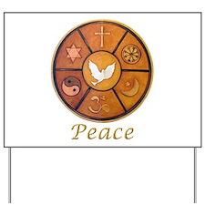 """Interfaith """"Peace"""" - Yard Sign"""