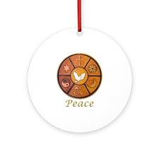 "Interfaith ""Peace"" - Ornament (Round)"