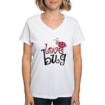 Love Bug Women's V-Neck T-Shirt