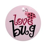 Love Bug Ornament (Round)