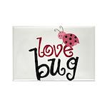 Love Bug Rectangle Magnet (100 pack)