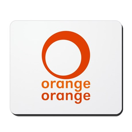 orange orange Mousepad