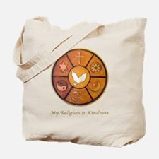 "Interfaith ""My Religion is Kindness"" Tote Bag"