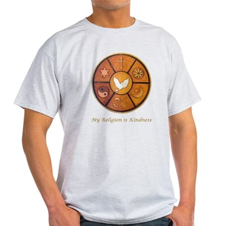 "Interfaith ""My Religion is Kindness"" Light T-Shirt"
