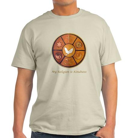 "Interfaith ""My Religion is Kindness"" Light T-Shirt"