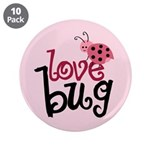 """Love Bug 3.5"""" Button (10 pack)"""
