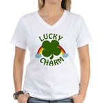 Lucky Charm Women's V-Neck T-Shirt