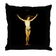 """Crucified Christ"" Throw Pillow"