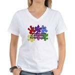 Autism: Say vs Speak Women's V-Neck T-Shirt