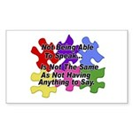Autism: Say vs Speak Rectangle Sticker