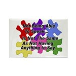 Autism: Say vs Speak Rectangle Magnet (100 pack)