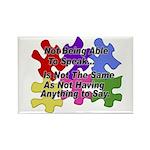 Autism: Say vs Speak Rectangle Magnet