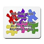 Autism: Say vs Speak Mousepad