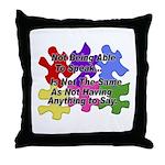 Autism: Say vs Speak Throw Pillow