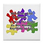 Autism: Say vs Speak Tile Coaster