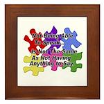 Autism: Say vs Speak Framed Tile