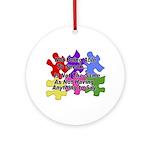 Autism: Say vs Speak Ornament (Round)