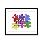 Autism: Say vs Speak Framed Panel Print