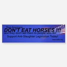 Stop Horse Slaughter Bumper Bumper Bumper Sticker