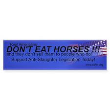 Stop Horse Slaughter Bumper Bumper Sticker