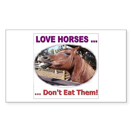Stop Horse Slaughter Rectangle Sticker