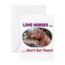 Stop Horse Slaughter Greeting Card