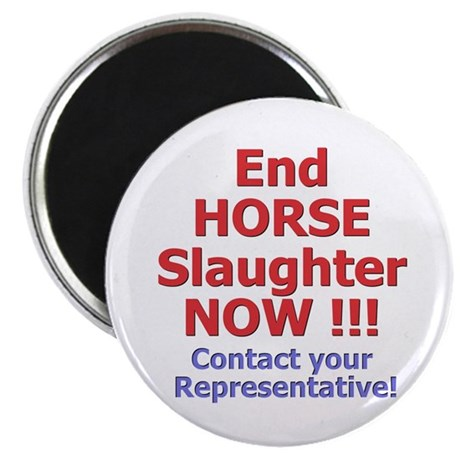 """Stop Horse Slaughter 2.25"""" Magnet (10 pack)"""