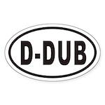 D-DUB Euro Oval Sticker