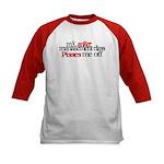 Anger Management Class Kids Baseball Jersey