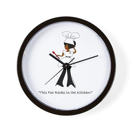 """Foxy Chef!"" Wall Clock"